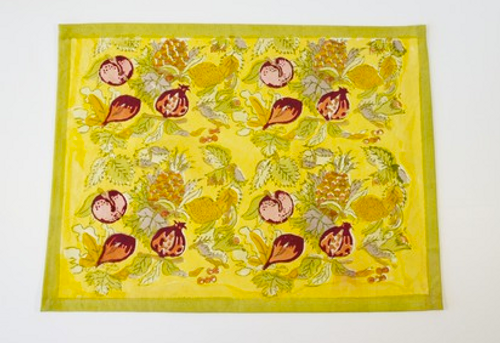 Tutti Frutti Yellow Green Placemats, Set of 6