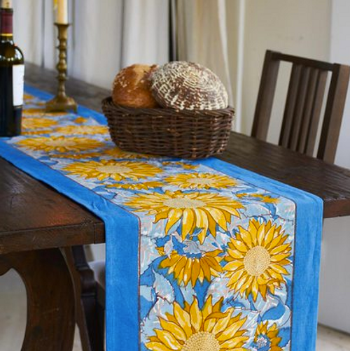 Sunflower Yellow Blue Runner
