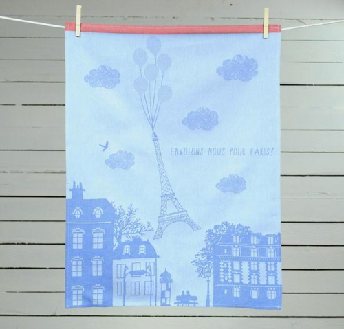 "Paris Balloons ""Envolons Nous"" Kitchen Towel"
