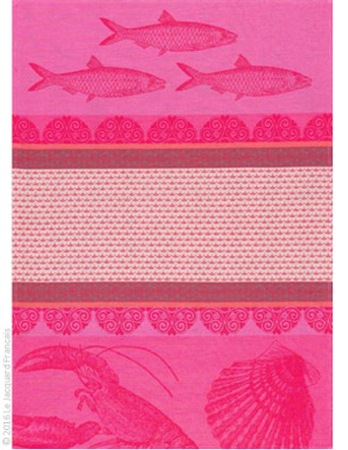 Saveur de Bretagne Camelia Pink Kitchen Towel