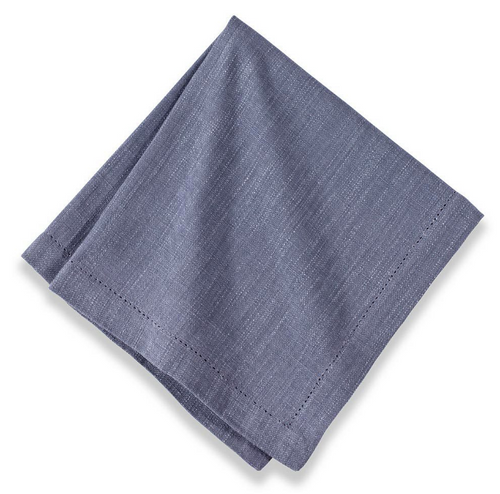 Cotton Hemstitch Napkin Paris Grey, Set of 6