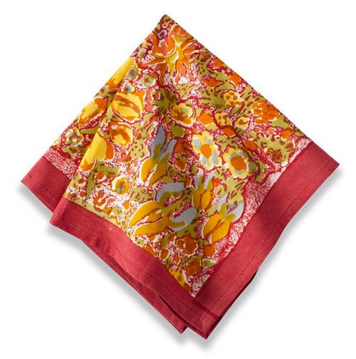 Jardin Red/Yellow Napkins, Set of 6