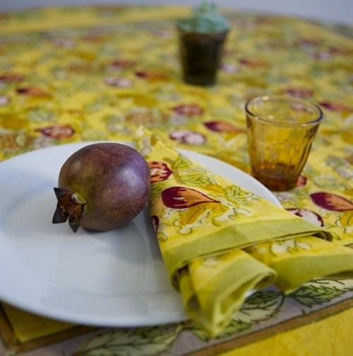 Tutti Frutti Yellow Napkins, Set of 6