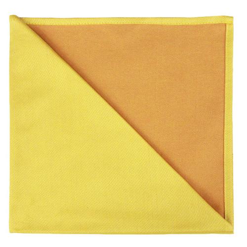 Bicolor Cotton Napkins Jaune / Apricot , Set of 6