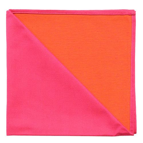 Bicolor Cotton Napkins Garance / Capucine, Set of 6