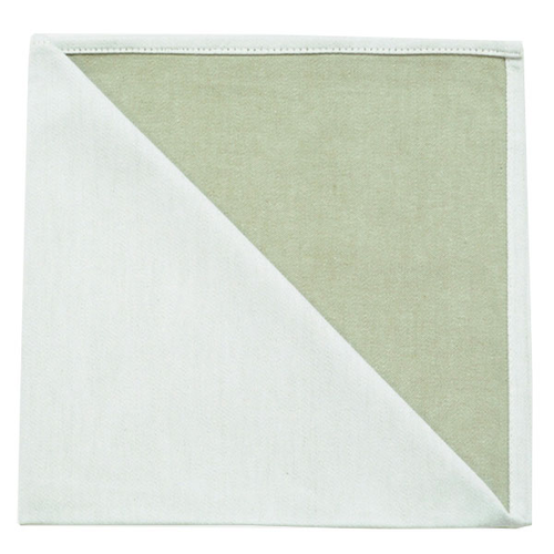 Bicolor Cotton Napkins Blanc/ Corne, Set of 6