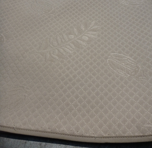 "Round 110""  Taupe Provence Tablecloth"