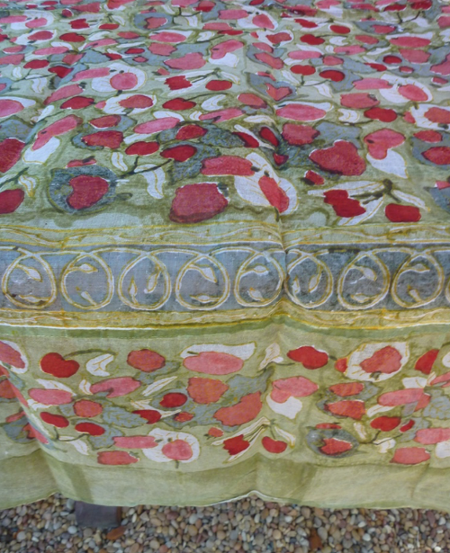Fruit Red Organza Tablecloth
