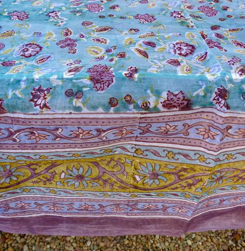 Joy Turquoise Organza Tablecloth