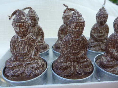 Buddha Votive Chocolate Brown