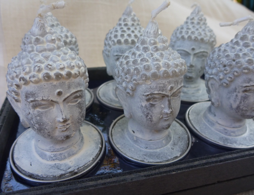 Buddha Votive Dove Grey