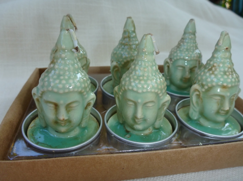 Buddha Votive Light Turquoise