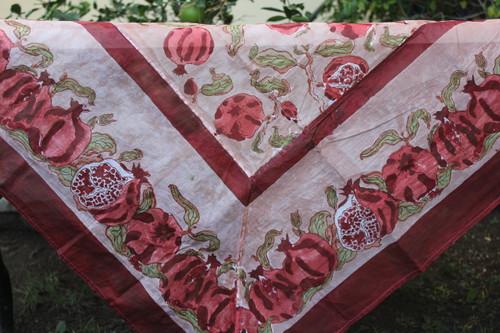 Pomegranate Burgundy Organza Tablecloth