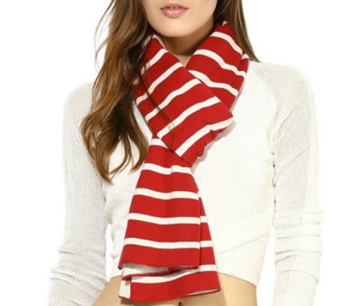 Scarf, Red Stripe