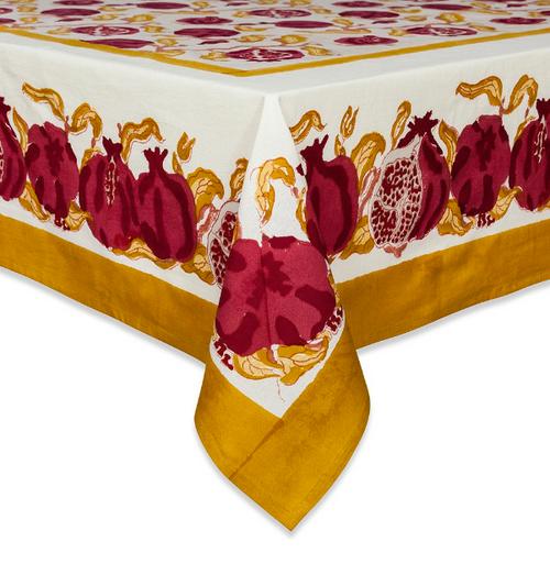"71 x 142"" Pomegranate Tablecloth"