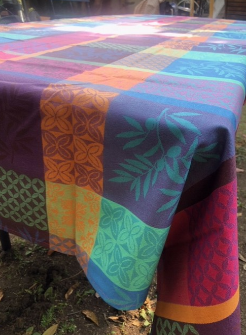 "Tomar Muliticolore Coated tablecloth 63"" x 98"""