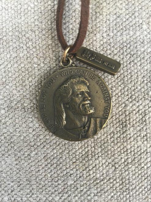 Blessed Christ Brass Medal
