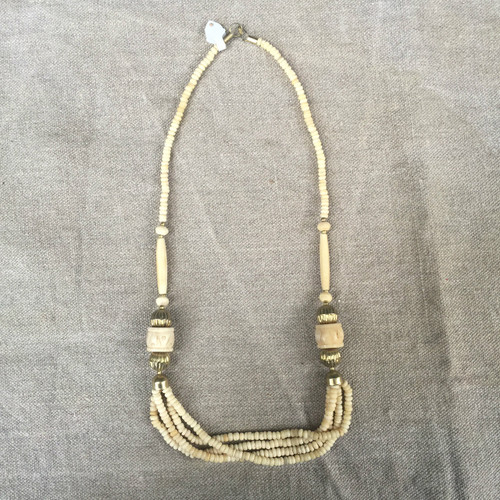 Bones and Metal Multi thread Necklace