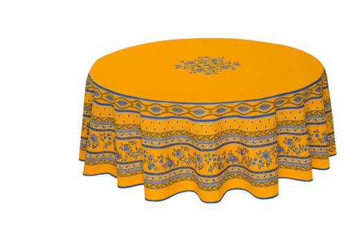 Avignon Yellow Coated Tablecloth
