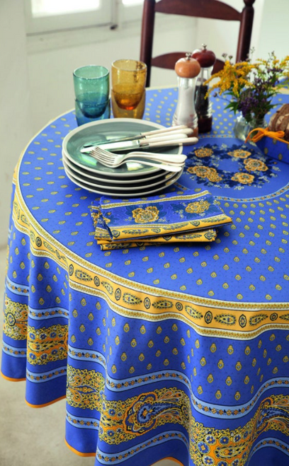 Bastide Lavender Blue  Coated Tablecloth