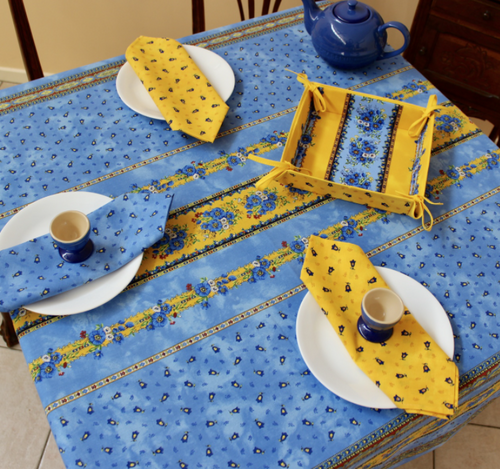 Tradition Blue Coated Tablecloth