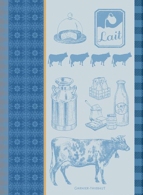 La vache et le Lait Bleu Kitchen Towel