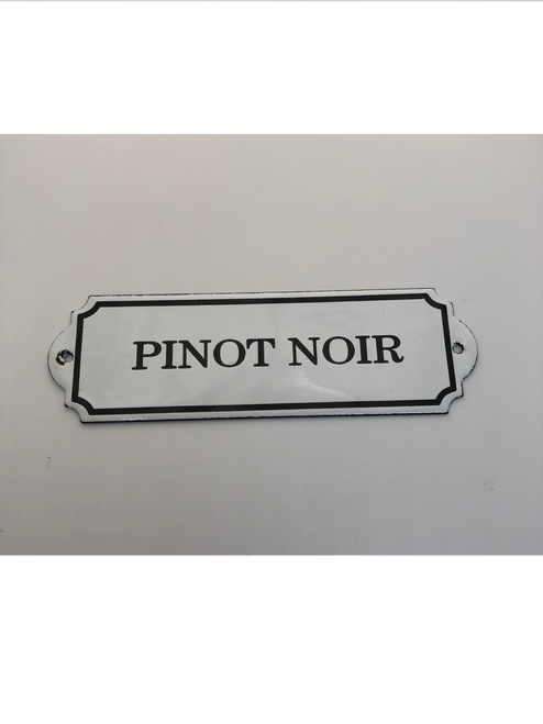 """Pinot Noir"" Metal Decorative Wall Placard"