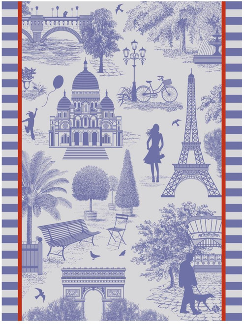 Toile de Paris Kitchen Towel - Sky
