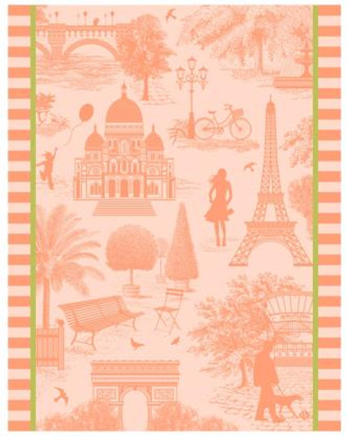 Toile de Paris Kitchen Towel - Melon