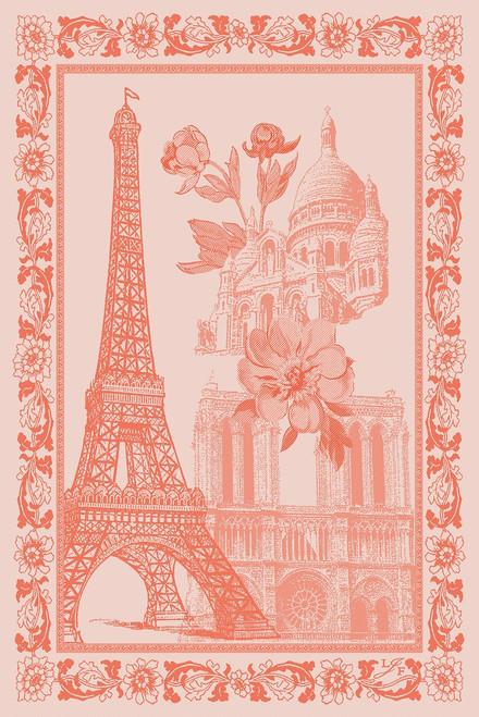 Paris en Fleurs Kitchen Towel Papaye