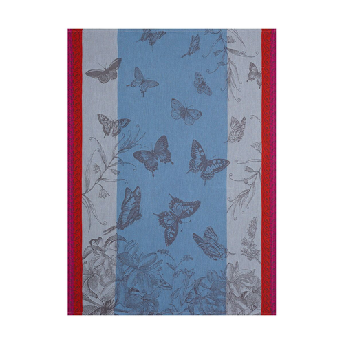 Jardin de Papillons Kitchen Towel Blue