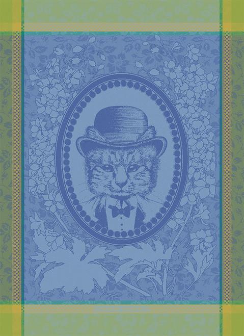 Monsieur Chat Cat Bleu Kitchen Towel