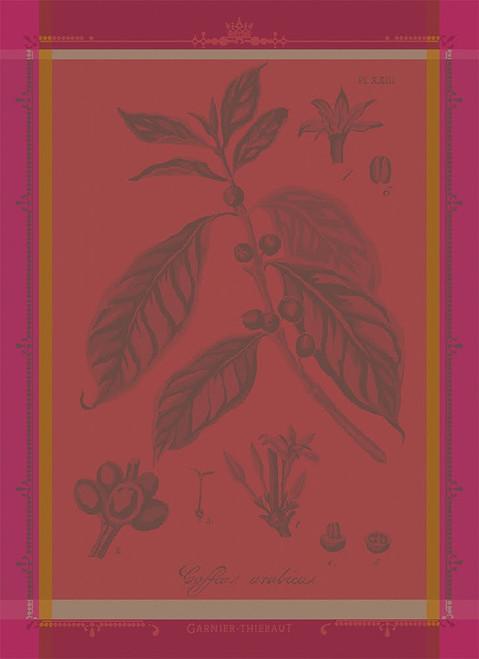 Cafe Botanique Fuchsia Kitchen Towel