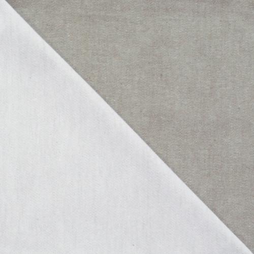 Bicolor Cotton Napkins Blanc / Gris, set of 6