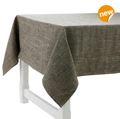Pepite Noir Linen Tablecloth