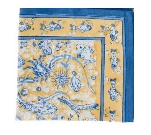 La Mer Yellow Blue Napkins, Set of 6