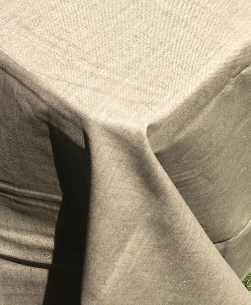 Dark Grey in full sunlight, beautiful Linen with acrylic coating for durability