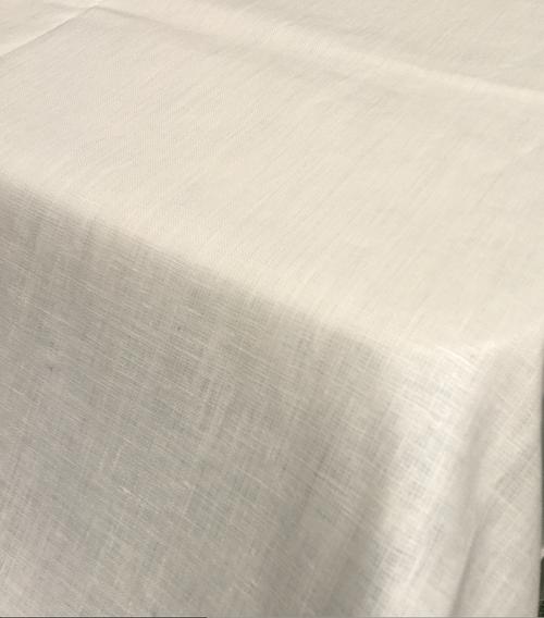 Cream Coated Linen Tablecloth