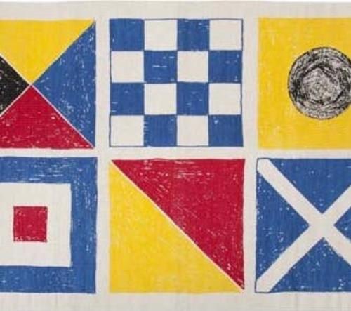 Flag bath mat