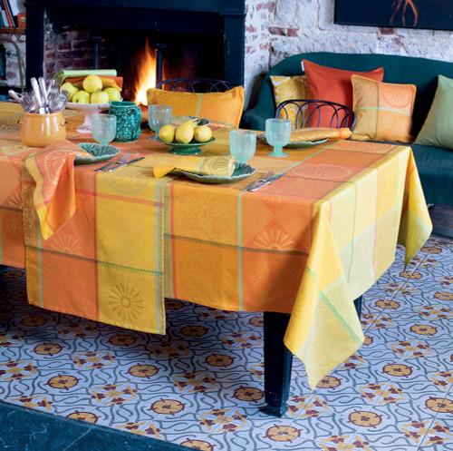 Mille Sicilia Limoni Coated Tablecloth