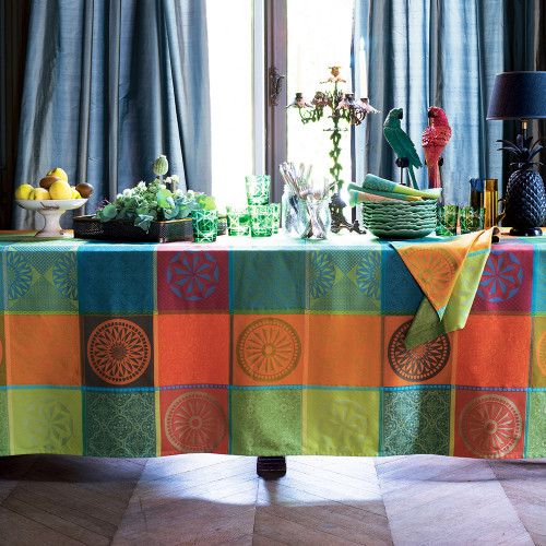 Mille Sicilia Riviera Coated Tablecloth