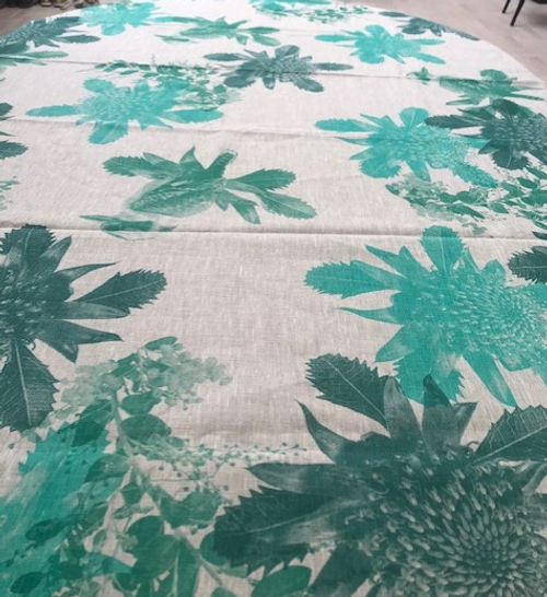 Green Birds Tablecloth