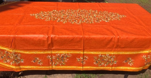 Olivette Orange Coated Rectangular 98""