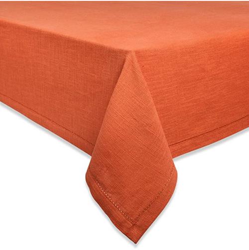 "Hemstitch Burnt Orange, rectangular 108"""