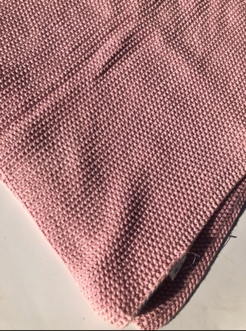 Blanket knitted Pink