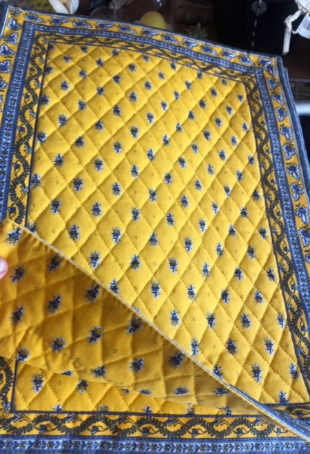 Yellow Quilted Placemat