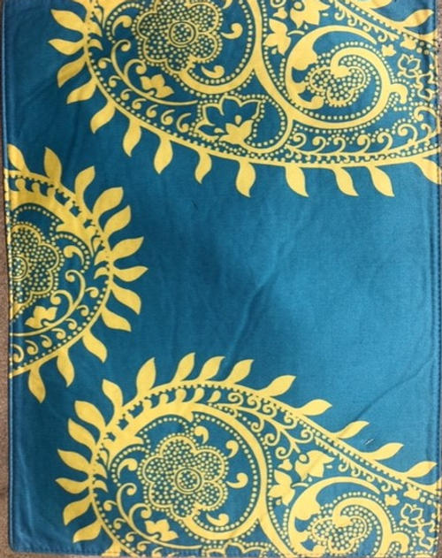 Blue with yellow Paisley Placemat