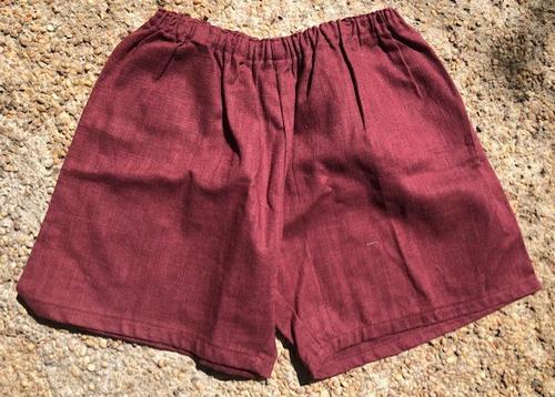 Linen Short - Burgundi