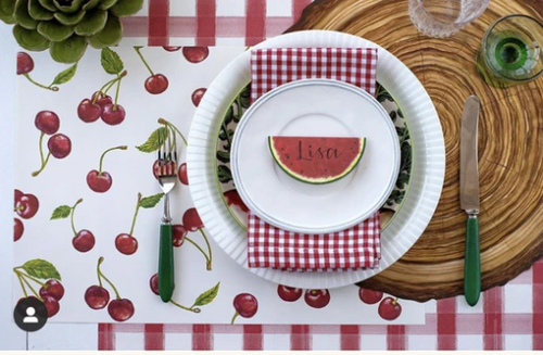 Paper Placemats, Cherry