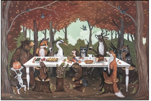 Paper Placemats, Thanksgiving